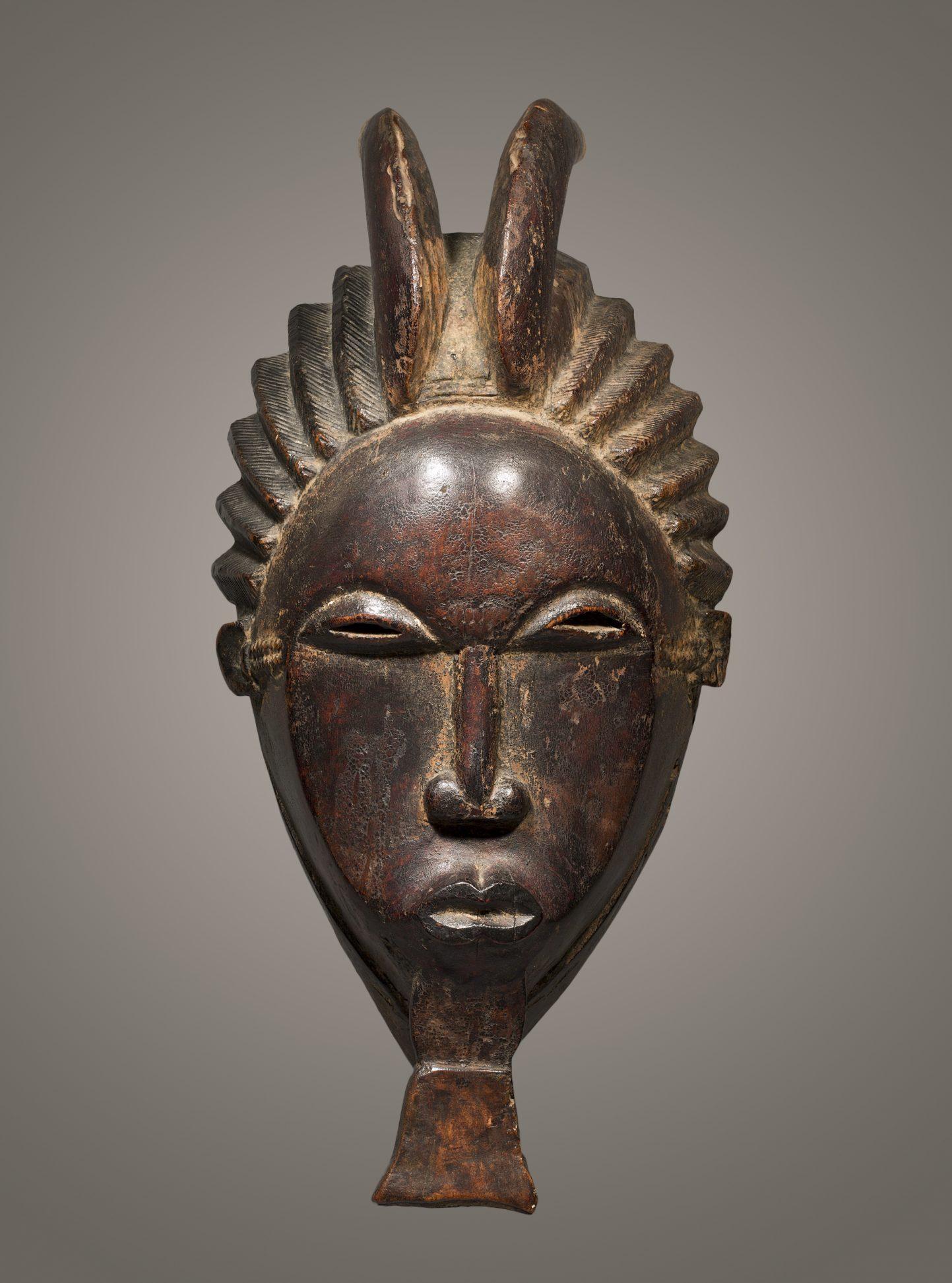 Mask, Baule Ndoma, Wood 31 cm